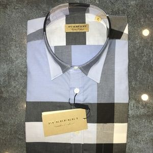 new BURBERRY LONDON SHIRT %100 COTTON REGULAR FIT